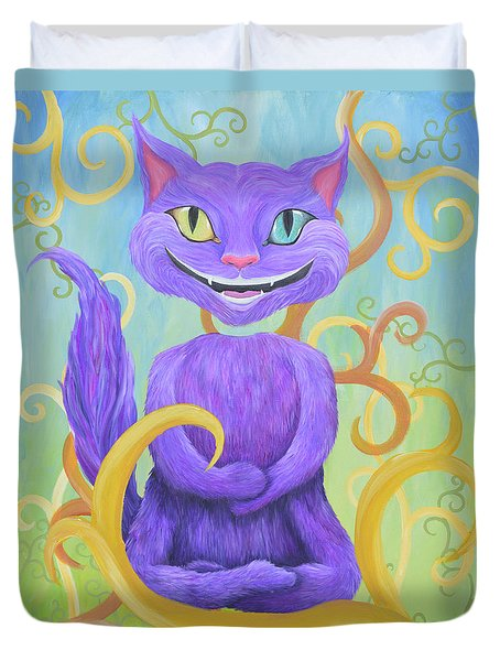 Cheshire Grin Duvet Cover