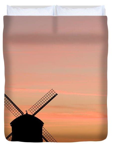 Chesterton Windmill Duvet Cover by Anne Gilbert