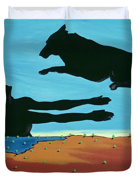 Chestertowns Shore, 1999 Duvet Cover by Marjorie Weiss