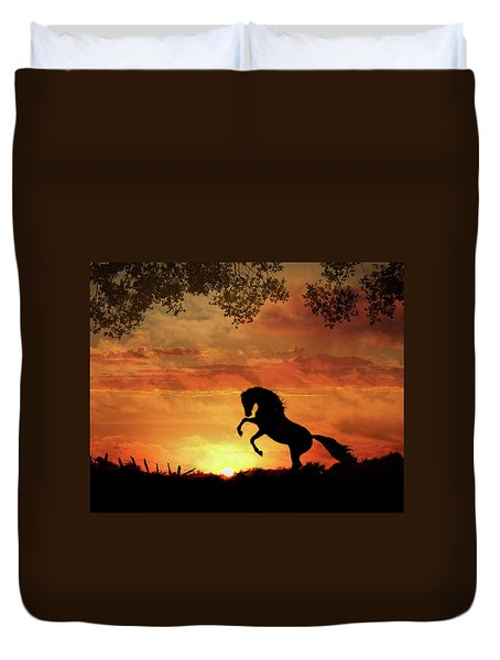 Chestnut Sunset Duvet Cover