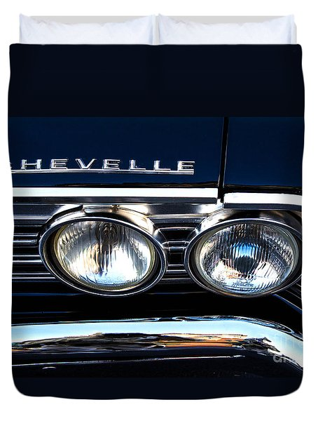 Chevelle Headlight Duvet Cover by Jerry Fornarotto