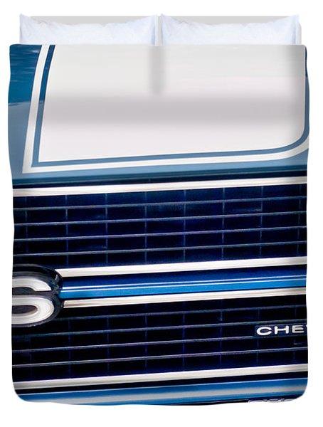 Chevrolet Chevelle Ss Grille Emblem 2 Duvet Cover