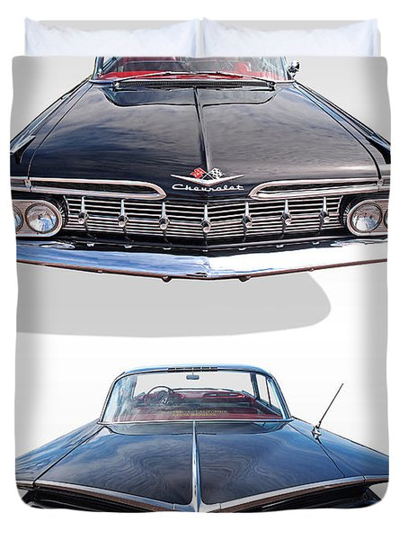 Chevrolet Impala 1959 Front And Rear Duvet Cover