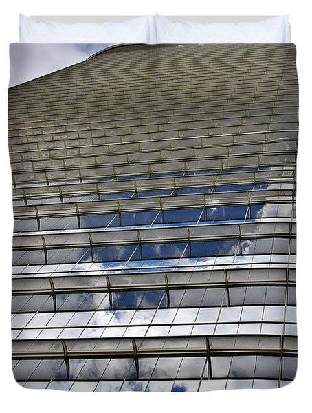 Chevron Corporation Houston Tx Duvet Cover by Christine Till