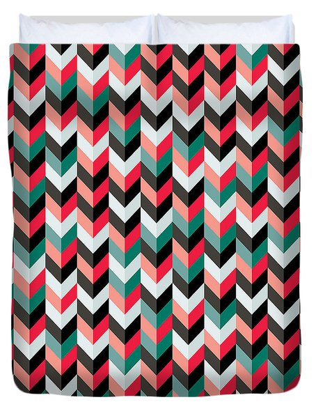 Chevron Duvet Cover by Mike Taylor