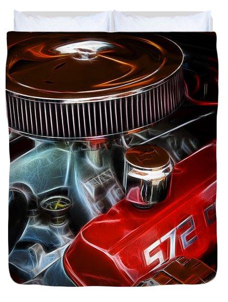 Chevy 572 Fractal Duvet Cover