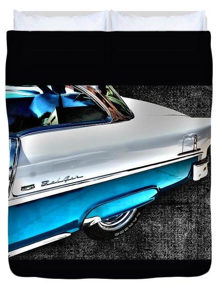 Chevy Bel Air Art 2 Tone Side View Art 1 Duvet Cover by Lesa Fine