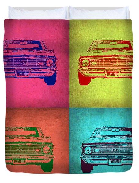 Chevy Camaro Pop Art 1 Duvet Cover