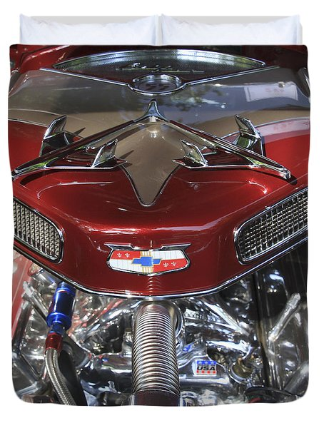Chevy Engine Duvet Cover