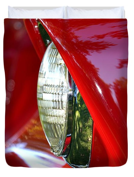 Chevy Headlight Duvet Cover by Dean Ferreira