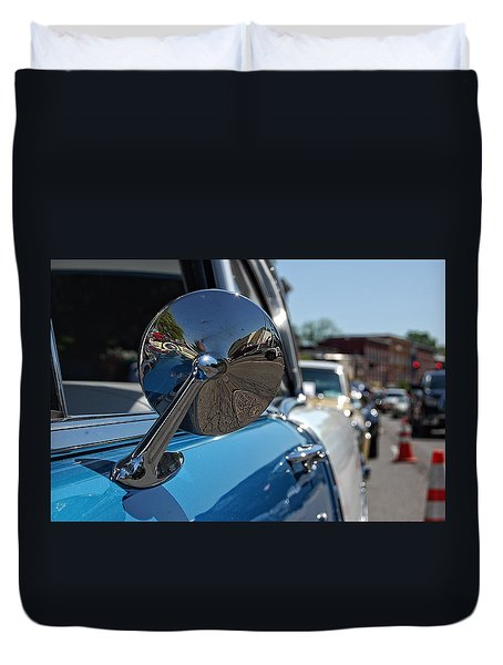 Chevy Mirror Duvet Cover