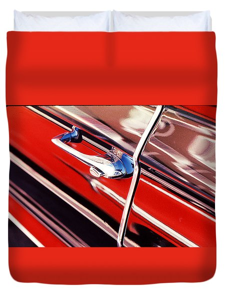 Duvet Cover featuring the photograph Chevy Or Caddie? by Ira Shander