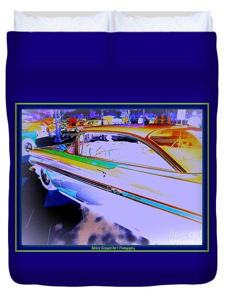 Chevy Psycho Delic Duvet Cover by Bobbee Rickard