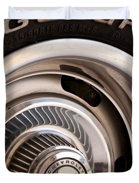 Chevy Wheel Duvet Cover