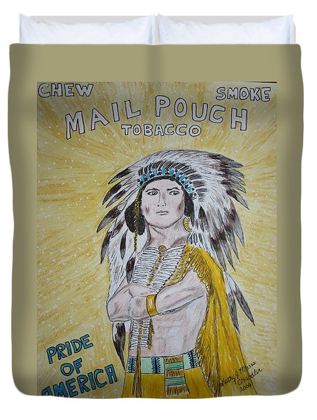 Chew Mail Pouch Duvet Cover by Kathy Marrs Chandler