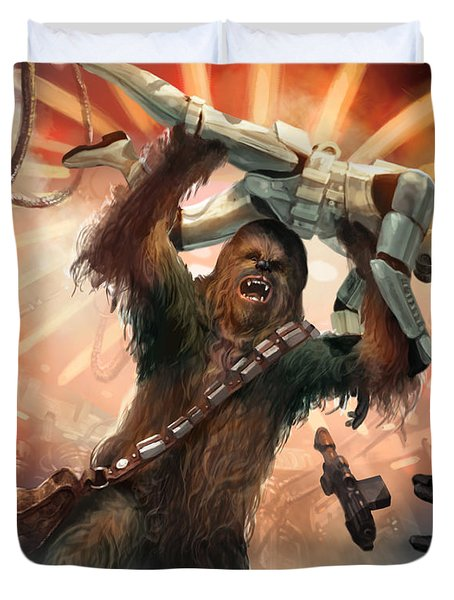 Chewbacca - Star Wars The Card Game Duvet Cover