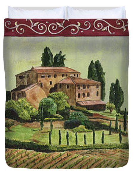 Chianti And Friends Collage 1 Duvet Cover by Debbie DeWitt
