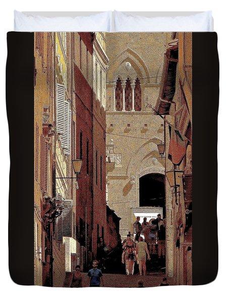 Chiaroscuro Siena  Duvet Cover