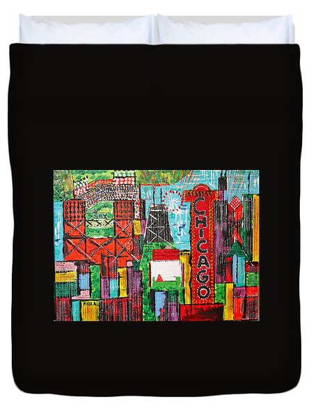 Chicago - City Of Fun - Sold Duvet Cover