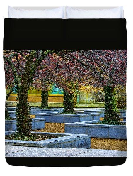 Chicago Art Institute South Garden Duvet Cover
