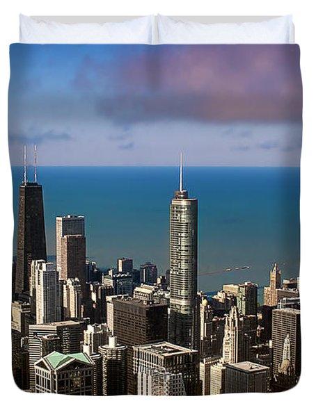 Chicago Before Sunset Duvet Cover