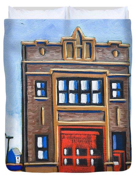 Chicago Fire Station Duvet Cover