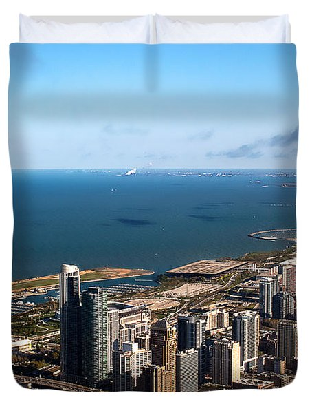 Chicago From Above Duvet Cover