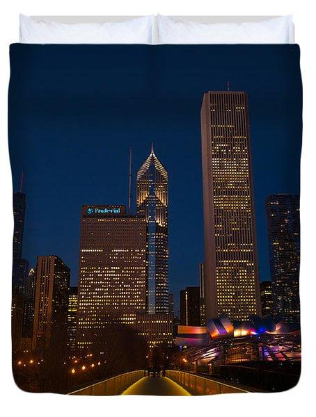 Chicago Lights Duvet Cover