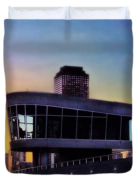 Duvet Cover featuring the photograph Chicago Lock Tower by John Hansen