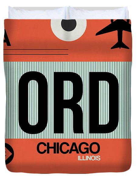 Chicago Luggage Poster 2 Duvet Cover