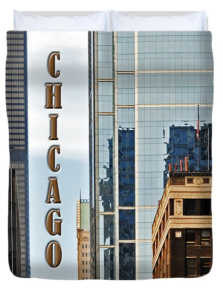 Chicago  Duvet Cover by Lydia Holly
