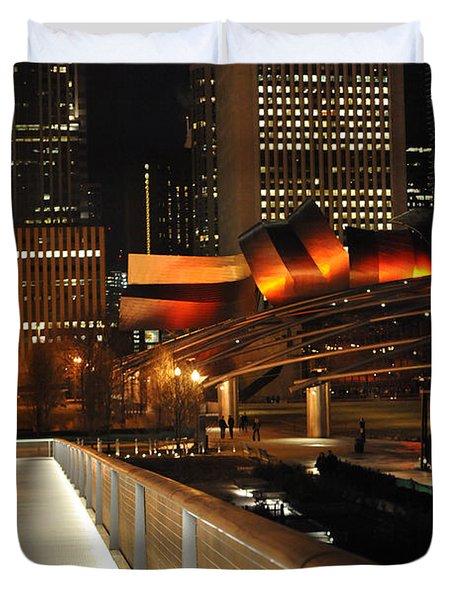 Chicago Millenium Park Duvet Cover