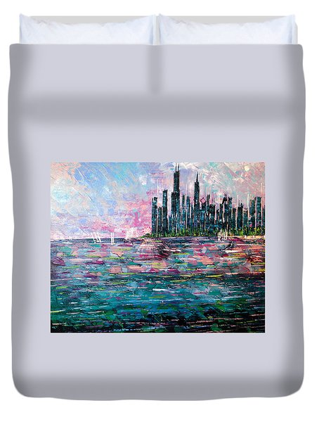 Chicago Morning - Sold Duvet Cover