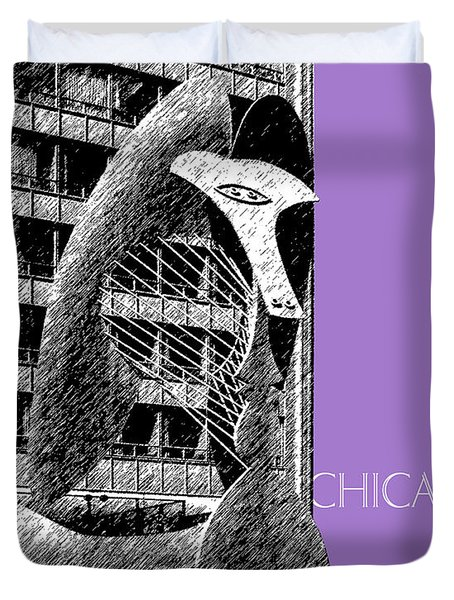 Chicago Pablo Picasso - Violet Duvet Cover