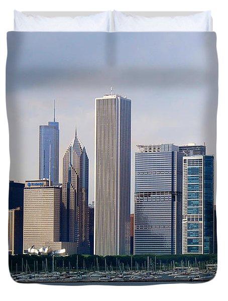 Chicago Panorama Duvet Cover