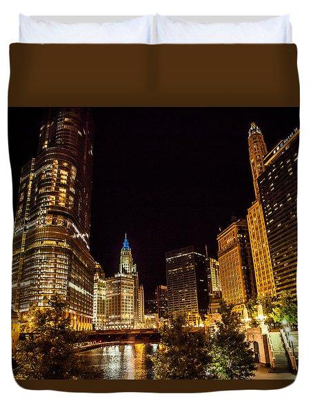 Chicago Riverwalk Duvet Cover