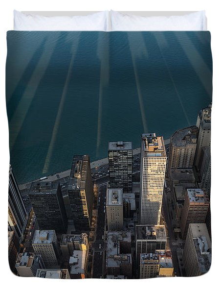 Chicago Shadows Duvet Cover by Steve Gadomski