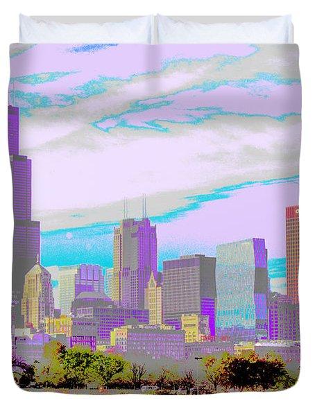 Chicago Skyline 2014 Duvet Cover