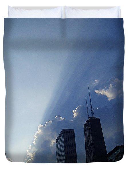 Chicago Sunset Duvet Cover by Verana Stark