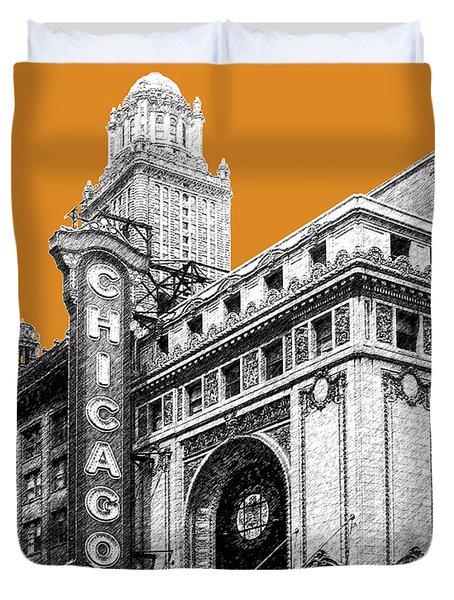 Chicago Theater - Dark Orange Duvet Cover