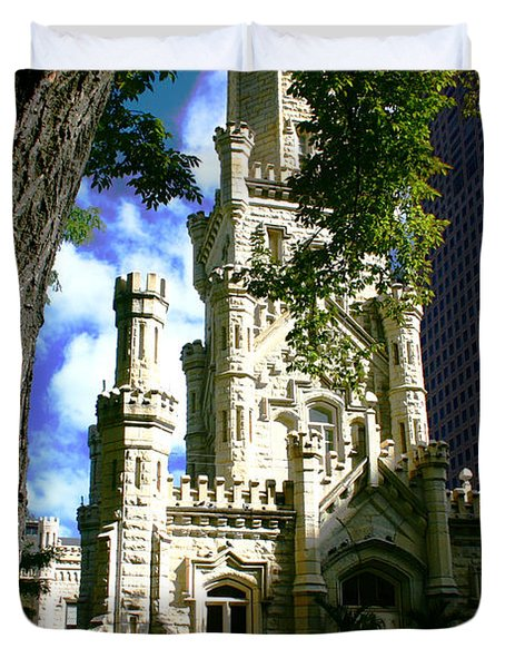 Chicago Water Tower Castle Duvet Cover