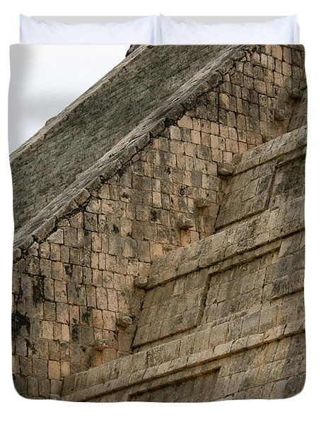 Duvet Cover featuring the photograph Chichen Itza by Silvia Bruno