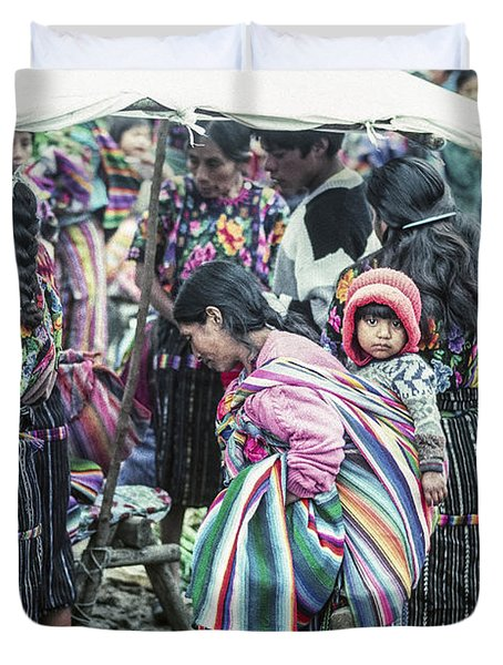 Duvet Cover featuring the photograph Chichi Market by Tina Manley