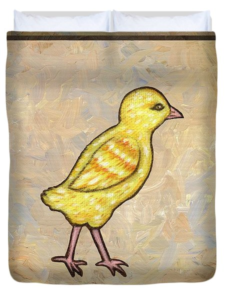 Chick One Duvet Cover by Linda Mears