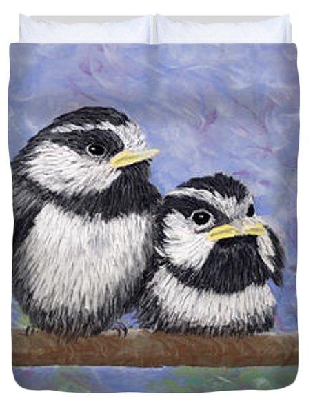 Chickadee Chicks Duvet Cover