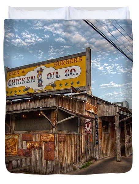 Chicken Oil Company Duvet Cover