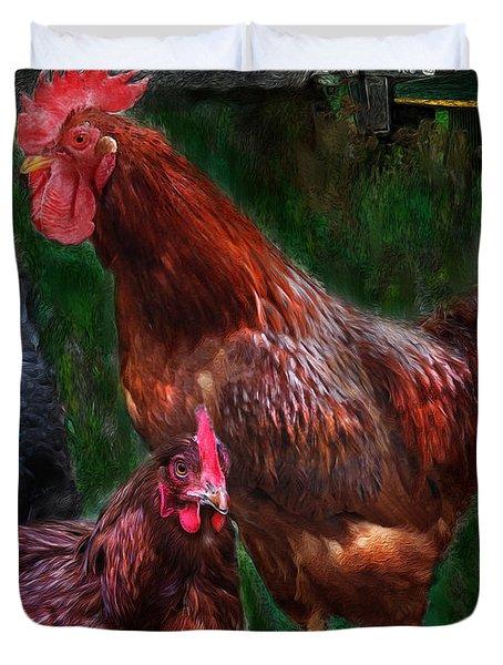 Chickens Duvet Cover