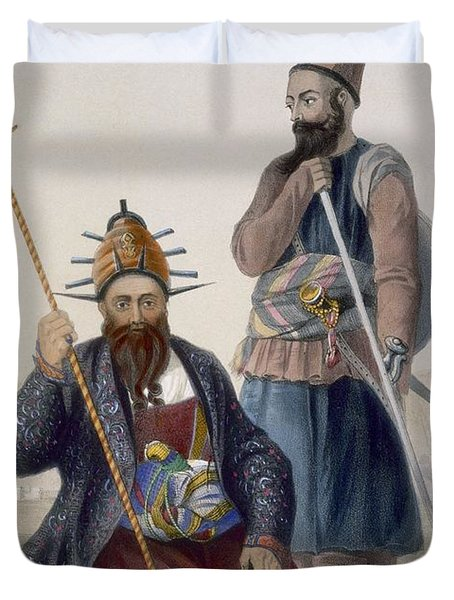 Chief Executioner And Assistant Of His Duvet Cover by James Rattray