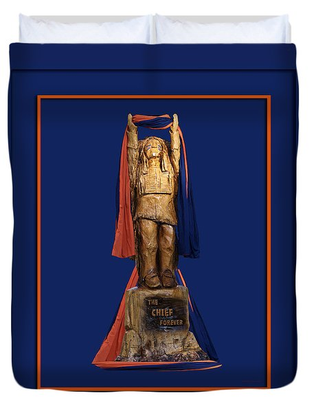 Chief Illiniwek University Of Illinois 05 Duvet Cover by Thomas Woolworth
