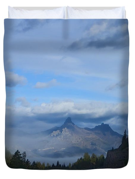 Chief Joseph Hiway-signed-#0001 Duvet Cover by J L Woody Wooden